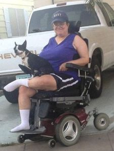 wheelchair lady
