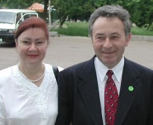 Wife Natalia and Dr. Vasyl Pasichnyk